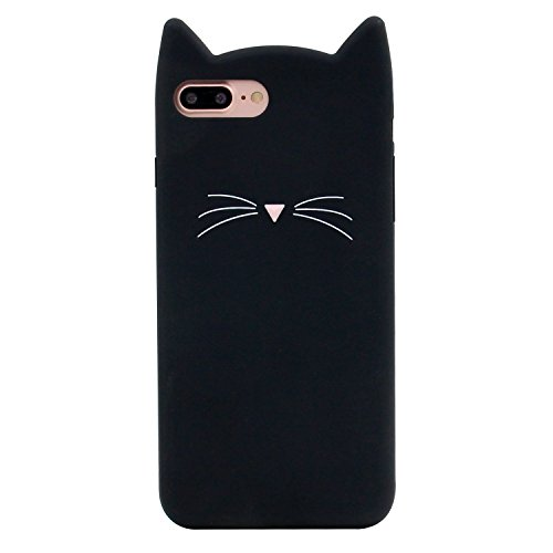 DiDicose Samsung Galaxy S8 Case,3D Cartoon Animal Black Whiskers Cat Kitty Silicone Rubber Phone Case Cover for Samsung Galaxy S8 (5.8 inch)