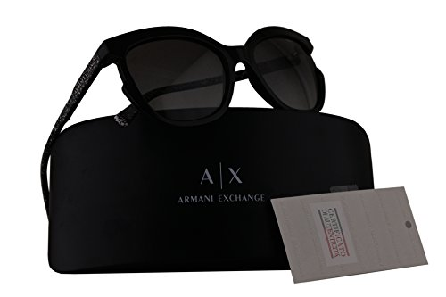 Armani Exchange AX4065S Sunglasses Black w/Grey Gradient Lens 55mm 815811 AX - Sunglasses Exchange Armani Womens