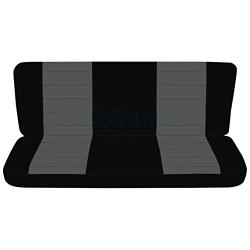 Cab Rear Seat - 1997-2003 Ford F-150 Super Cab Two-Tone Truck Seat Covers (Rear 40/60 Split Bench): Black & Charcoal (21 Colors) 1998 1999 2000 2001 2002 F-Series Extended F150 Back