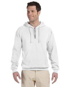 The Adult NuBlend Quarter-Zip Hooded Sweatshirt