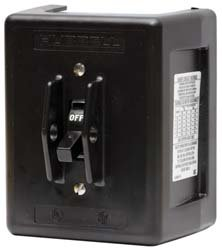 Hubbell HBL1389D3 Pole Disconnect Switch with NEMA 1 Non-Metallic Enclosure, 30 amp, 600V