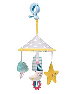 Taf Toys Mini Moon Pram Mobile Play Set   Fits Pram & Stroller, Baby's Entertainment On The Go, Hanging Toys To Keep Baby Happy, Suitable For New-Born, Easier Outdoors, Best Gift