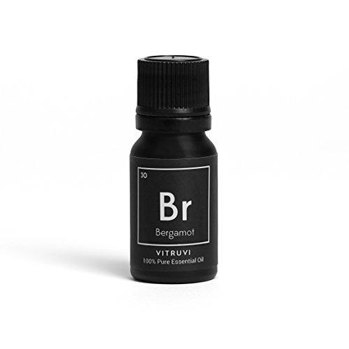 Vitruvi Bergamot Essential Oil, 100% Pure Undiluted Premium Grade Essential Oil, All Natural (.3 oz)