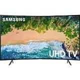 "Samsung UN55NU7300FXZC Curved 55"" 4K Ultra HD Smart LED TV (2018), Charcoal Black [CA Version]"