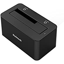 "Nekteck USB Type C USB3.1 (USB-C) to SATA 2.5/3.5 Inch External Hard Drive Disk Docking Station Enclosure for for 3.5"" 2.5"" SATA HDD and SSD [Support Up to 8TB] - Tool Free, 1 Bay"