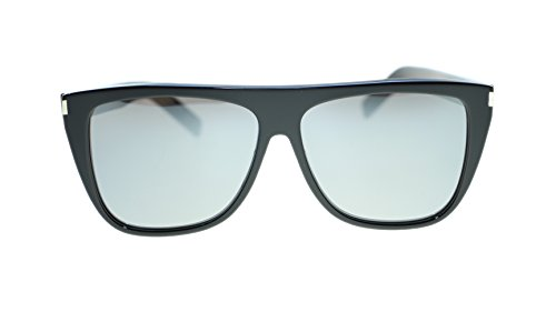 YVES SAINT LAURENT Unisex Sunglasses SL1 001 Black/Gray Mirror Polarized Lens - Sun Glasses Ysl