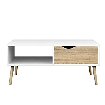 Tvilum Diana Coffee Table in White Oak. Amazon com  Tvilum Diana Coffee Table in White Oak  Kitchen   Dining
