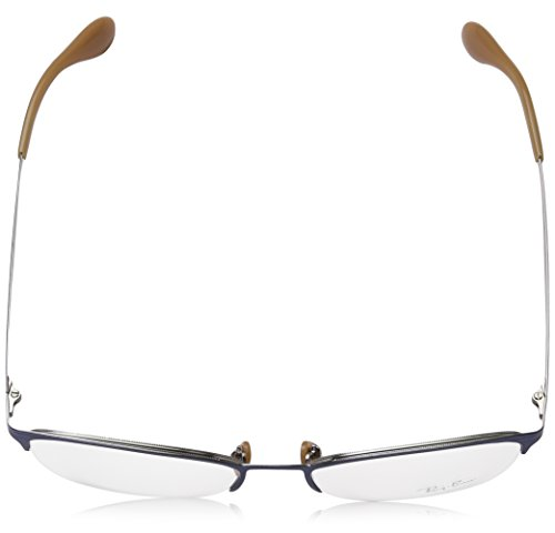 Grey 52mm RX6345 Bleu Top lunettes Montures Ban Blue Pour Brushed Light Femme Ray Optical Brushed de Silver On gTx4qXgw