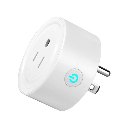 Smart Plug JZY Wi-Fi Mini Socket Outlet Compatible with Amazon Alexa, Wireless Control Your Devices from Anywhere Timing Function (White-1pack)