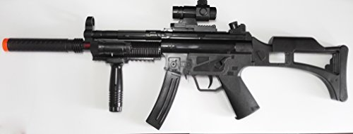 (MP5 w/ Silencer & Grip Battery Powered Submachine with Gun)