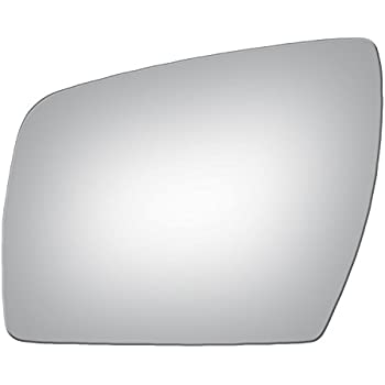 SQUARE SHAPE REPLACEMENT-MIRROR-GLASS +ADHESIVE PAD~MANUAL LEFT DRIVER SIDE
