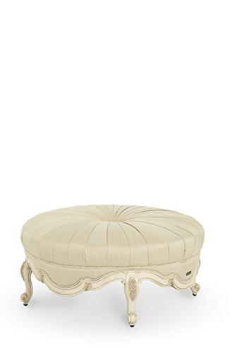 Lavelle Blanc Wood Trim Round Cocktail Ottoman by AICO - CHPGN-04 (Aico Furniture)