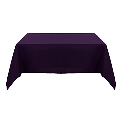 Deconovo Solid Oxford Decorative Square Waterproof Tablecloth For Dining Room, 54x54-inch, Dark Purple … Square Purple Vinyl