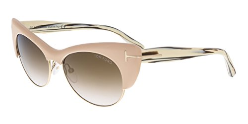 Tom Ford FT0387 74G LOLA Pink Gold Cateye Sunglasses