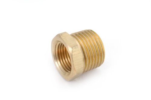 Anderson Metals 06110 Brass Pipe Fitting, Hex Bushing, 1
