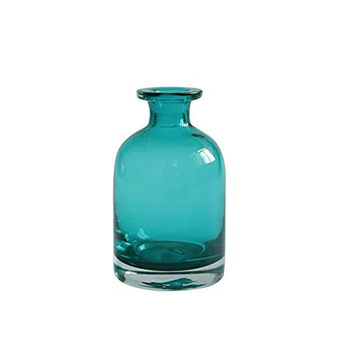 Whthteey Glass Flower Bud Vase Home Decor Blue Bottle Decorative Art for Home Wedding Party