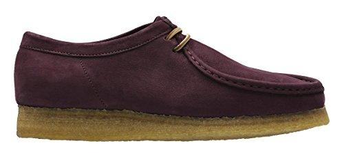CLARKS Men's Wallabee Shoe Purple Grape Nubuck Size 11.5 D(M) ()