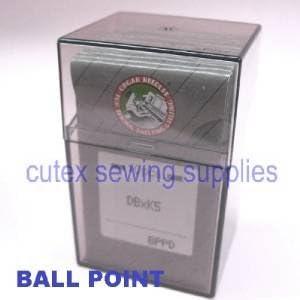 100 Titanium Ball Point DBXK5 DB-K5 Commercial Embroidery Machine Needles Size 80 // 12