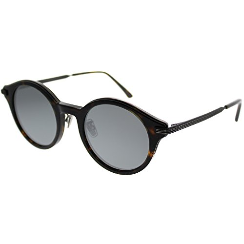 Jimmy Choo Nick 4HU T4 Havana Ruthenium Sunglasses Silver Mirror Lens