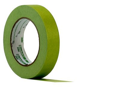 3M Scotch 2060 Crepe Paper Lacquer Painters Masking Tape, 24 lbs/in Tensile Strength, 60 yds Length x 1-1/2