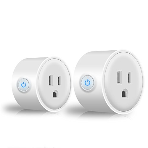 Amazon - Smart Plug, Wi-Fi Enabled Mini Sockets Smart Outlets No Hub Required Timing Function Control Your Electric Devices from Anywhere Compatible with Alexa and Google Assistant 2-Pack Amysen