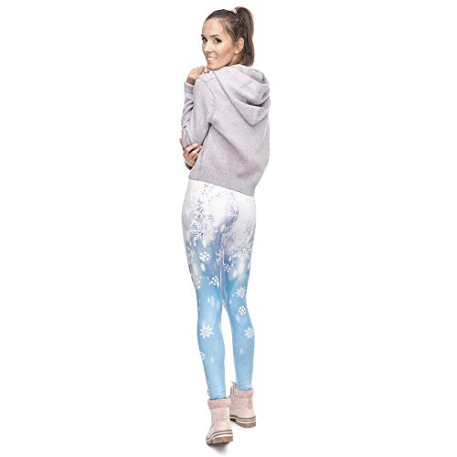 Grazioso Stampa Serie Da Yoga Leggings Elegante Lga49183 Moda Snow Donna Fitness Alta Vita Falling Legging Pantaloni A Natale gFz00