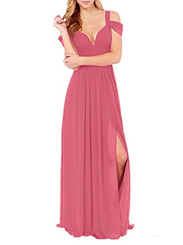 VaniaDress Women Sleeveless Long Evening Dress Prom Gown V213LF Coral US26W