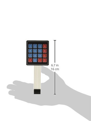 16 4x4 clave de la matriz de membrana conmutador teclado 76x69x0.8mm panel de control táctil - - Amazon.com