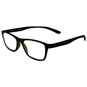 Naples, Durable Lightweight Reading Glasses with Super Comfortable Flexible Eyeglass Frames/brown frame/1.00
