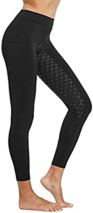 FitsT4 Women's Full Seat Riding Tights Active Silicon Grip Horse Riding Tights Equestrian Bree