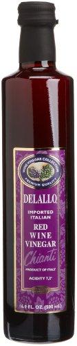 DeLallo Imported Red Wine Vinegar, 16.9-Ounce Bottles (Pack of 12)