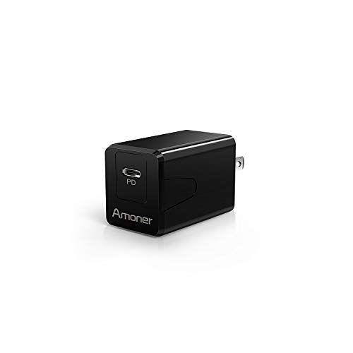 Amoner Wall Charger, Fast USB C Charger 18W/3A PD Charger Super Compact