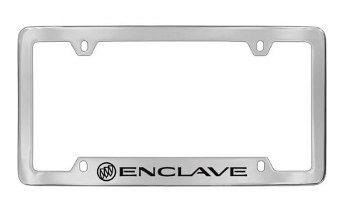 Buick Enclave Chrome Plated Metal Bottom Engraved License Plate Frame Holder Baronlfi