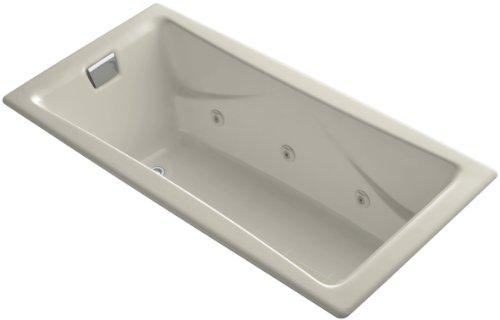 Kohler K-865-HM-G9 Tea-For-Two 6Ft Whirlpool with Custom Pump Location, ()