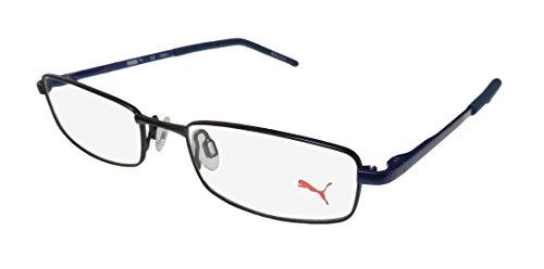 Puma 15382 Mens/Womens Designer Full-rim Spring Hinges Eyeglasses/Eyewear (49-17-135, Black / - Eyeglass For Frames Teens