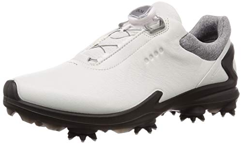 ECCO Men's Biom G3 BOA Gore-TEX Golf Shoe, Shadow White Yak Leather, 10 M US