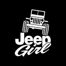 Girl Jeep Country Girl 4X4 Off Road Vinyl Decal Sticker|WHITE|Cars Trucks SUV Laptops Tool Box Wall Art|5