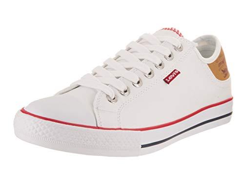 Levis Men's Stan Buck Fashion Sneaker, White/Brown, 10 M US