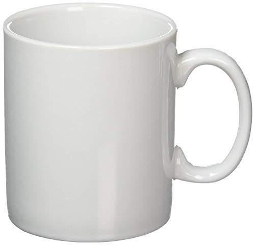 TYWPYY 12X Athena Hotelware Mugs 10oz Porcelain White Coffee Tea Cup Dishwasher Safe This Fascinating Mug Has A Sophisticated Floral Design on A White Background That Looks Great in Any Environment. ()