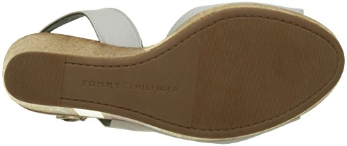 Espadrillas 121 Donna Wedge Bianco Stripes with White Printed Whisper Tommy Hilfiger qXRvwx7