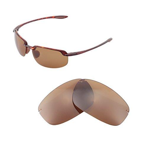 Walleva Replacement Lenses For Maui Jim Ho'okipa Sunglasses - Multiple Options available (Brown - - Maui Hookipa