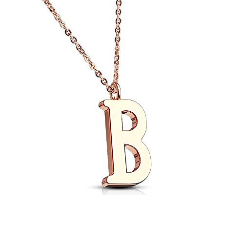 Bungsa® BUCHSTABE A Kette Rosegold - BUCHSTABEN-ANHÄNGER A Halskette ...
