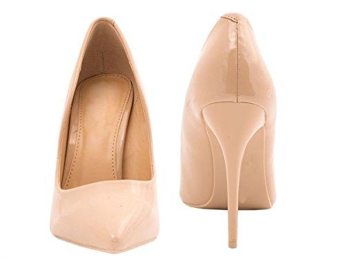 Heels Elegante Pearl punta Elara Beige Comodo di High Stilettos tacco dAqzxq0X