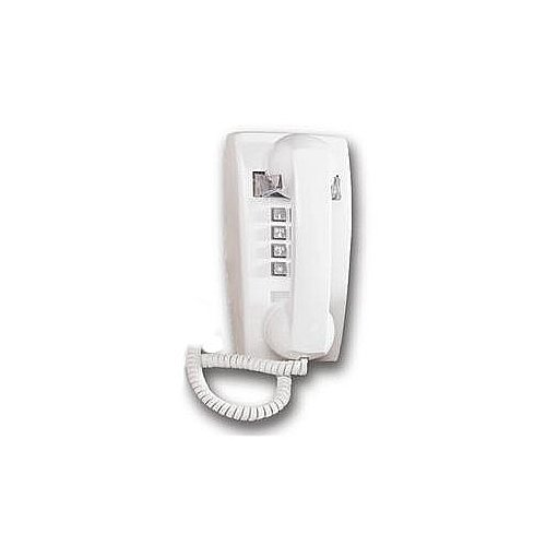 Cortelco Basic Single-Line Wall Telephone with Volume Control - White