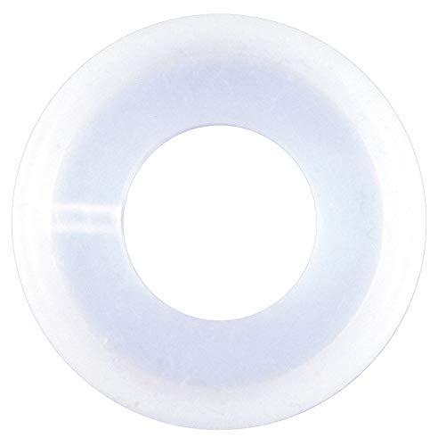 Coupler Thermocouple Gasket, 0.380' Inside Dia, 0.852' Outside Dia, Platinum Silicone, 1/2' Tube S