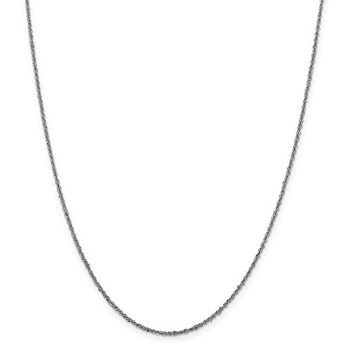 1.6mm 14k White Gold Sparkle Singapore Chain Necklace - 20 Inch (Gold Sparkle Singapore Chain)