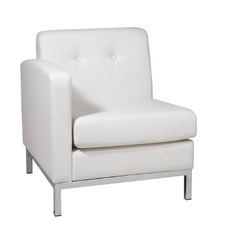 Work Smart Ave Six AVE SIX Wall Street LAF Arm Chair, White