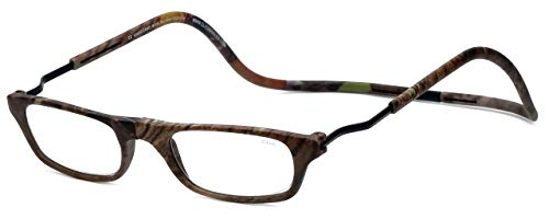 Clic XXL Magnetic Front connection Reading Glasses in Camo with Blue Light Filter + A/R Lenses +2.00