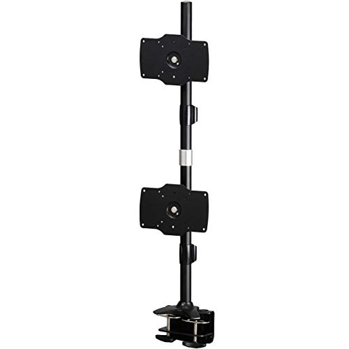 Amer Mounts AMR2C32V: Large Vertical Dual Monitor Mount - Desk Clamp - Displays up to 2/Two 32 inch LCD/LED - Vertical Lcd Dual