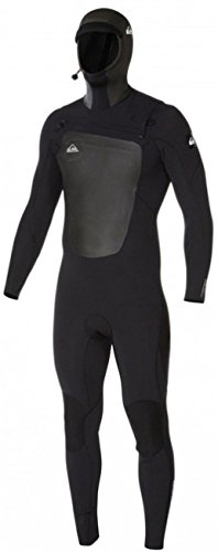 Quiksilver Mens Syncro 5/4/3Mm - Chest Zip Hooded Full Wetsuit Chest Zip Hooded Full Wetsuit Black Large by Quiksilver